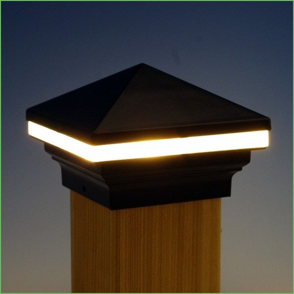 Lighting Fence Post Lights Solar Powered Iris Led Post Cap