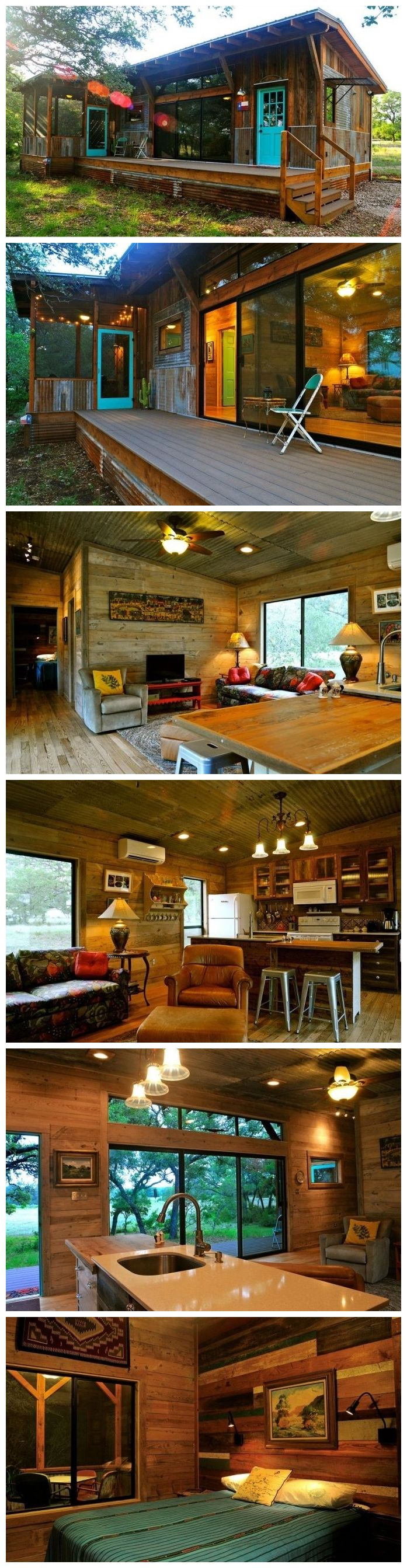 Cozy Cabin Made From Reclaimed Materials Of Old Barns