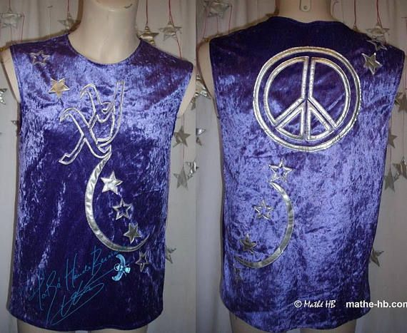 t-shirt top men's peace and love purple velvet and