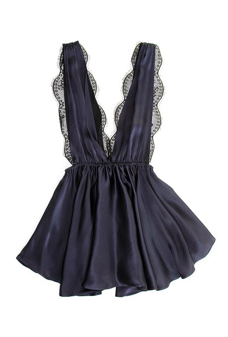 """""""Marilyn"""" babydoll, $238, Sapphire Bliss available at Oui Hours"""