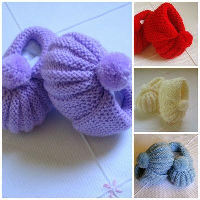 Minhas linhas e eu: Receita (e dicas) do sapatinho de tricot para bebê, com pompom