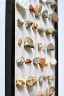 an excellent way to display a rock collection. I'm wondering about how other beachcombing finds would look displayed similarly.