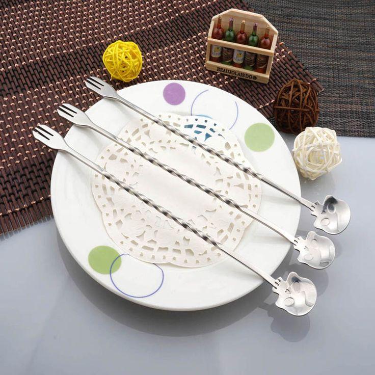 Multifunction Tableware Spoon Fork Skull //Price: $8.99 & FREE Shipping //     #skull #skullinspiration #skullobsession #skulls