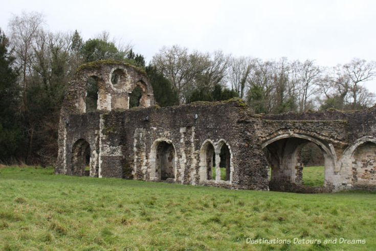 The Otherworldly Ruins of Waverley Abbey, Britain's first Cistercian monastery, located in the Surrey countryside near Farnham: lay brothers' quarters
