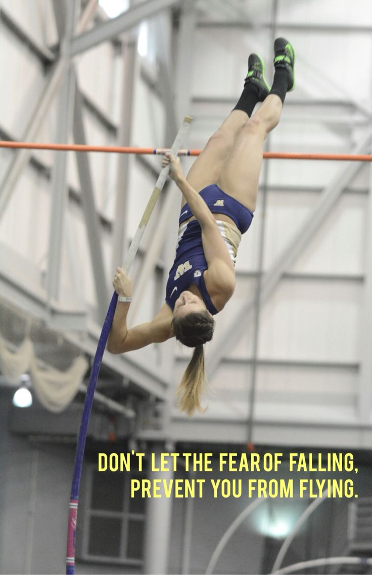 Inspirational pole vault quote