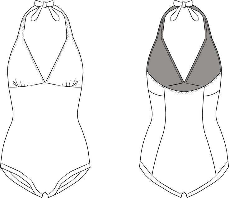 56 best Bikini and swimsuit PDF sewing pattern images on Pinterest ...