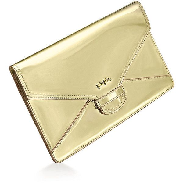 Metallic Love Envelope Evening Clutch Bag FOLLI FOLLIE ❤ liked on Polyvore featuring bags, handbags, clutches, folli follie handbags, cocktail purse, special occasion clutches, metallic clutches and folli follie