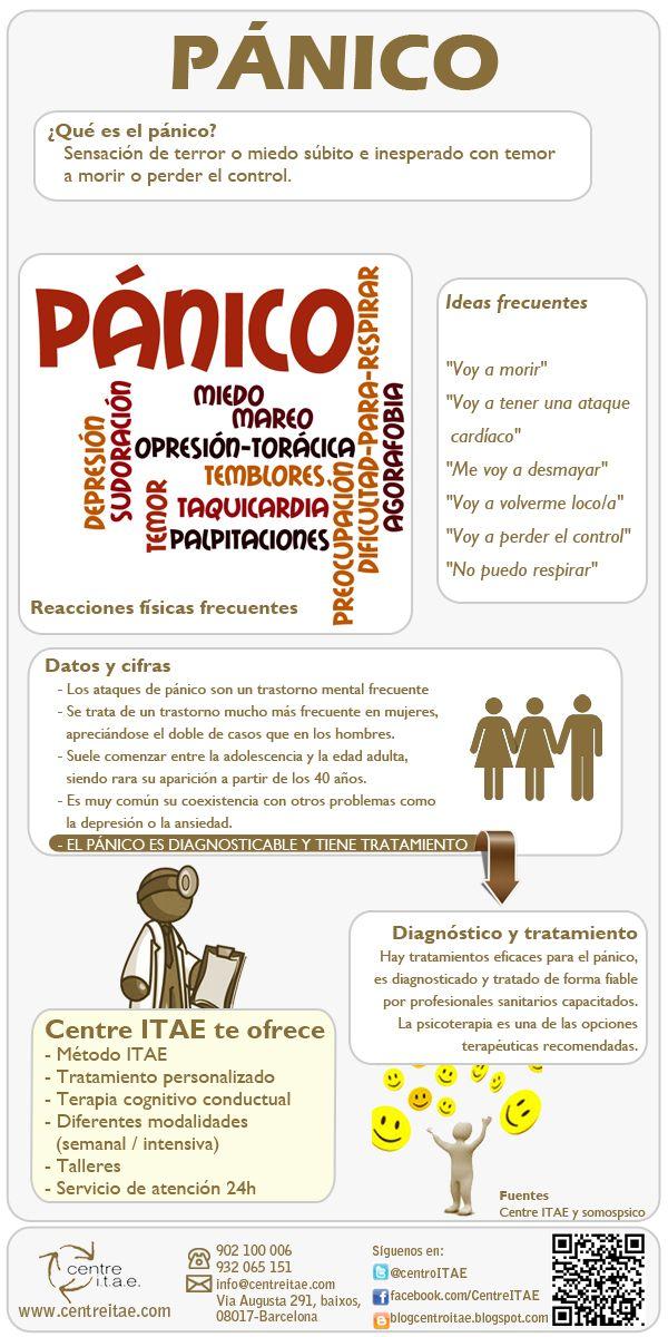 Infografía sobre el #panico #psicologia @gabinetedepsicl @SistemicaMente @infopsicologos @psicopositiva www.siembrasociedad.com