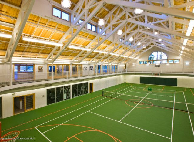 1000 images about indoor basketball tennis on pinterest for Indoor basketball court builders