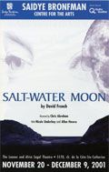 Poster for the wonderful production of Salt-Water Moon at the Saidye Bronfman, starring Allan Hawco and Nicole Underhay.