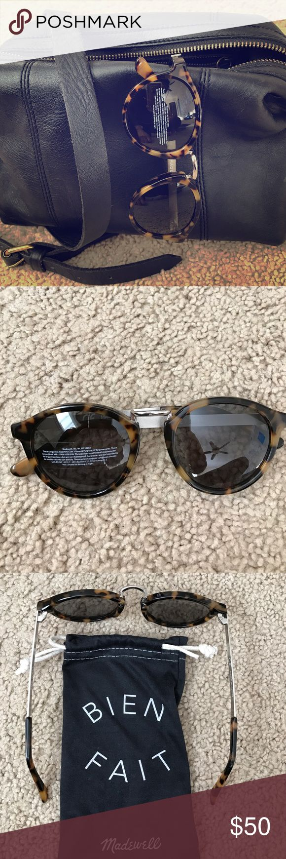 Madewell Indio Sunglasses Super popular and flattering sunglasses by madewell. NWOT. They come with the soft pouch shown in the last picture. Madewell Accessories Sunglasses