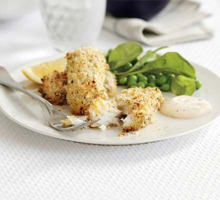 Oven baked fish fingers.  Great for getting more fish into the family.