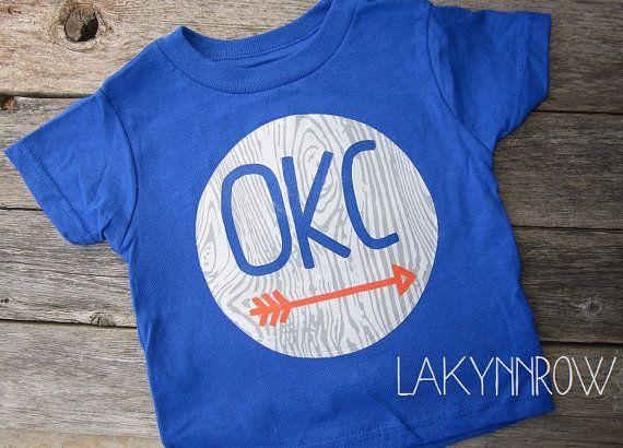 Oklahoma City Thunder Graphic TShirt. OKC basketball by LakynnRow