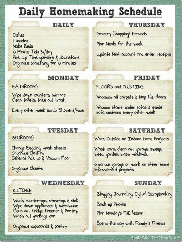 25 unique cleaning schedule templates ideas on pinterest weekly cleaning schedule cleaning schedule templatesweekly pronofoot35fo Image collections