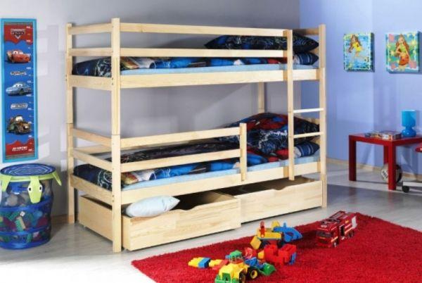 Das Etagenbett Simon in der massiv Kiefer Variation.  #Etagenbett #Kinderbett #Bett #Kiefer #Bettkasten