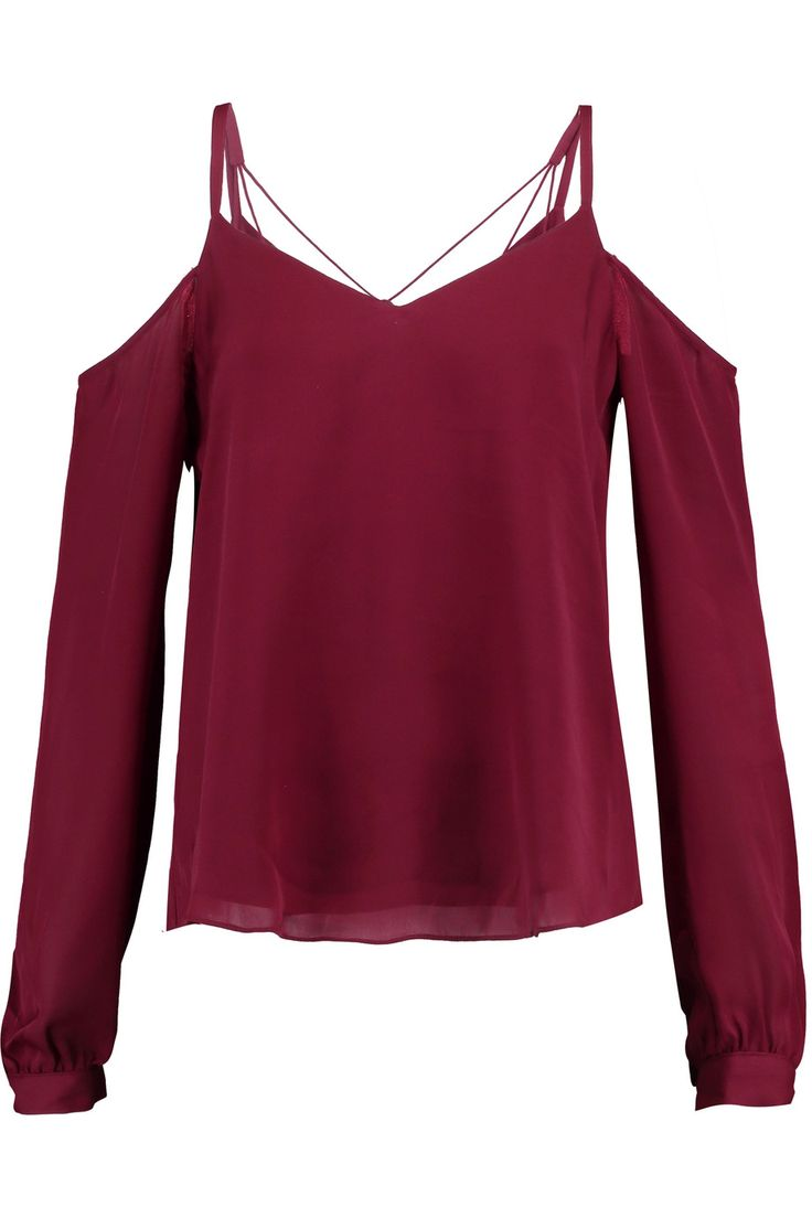 Shop on-sale Haute Hippie Cold-shoulder silk top . Browse other discount designer Tops & more on The Most Fashionable Fashion Outlet, THE OUTNET.COM