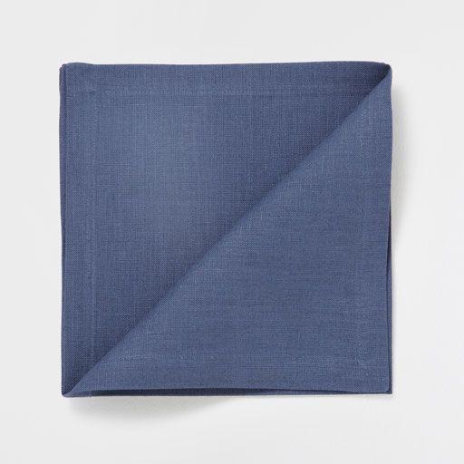 Tovagliolo Lino Basic Blu