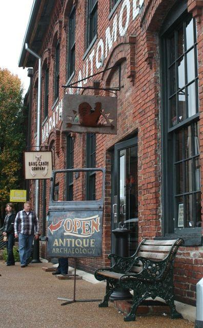 antique archeology Nashville storefront, pickers tv show