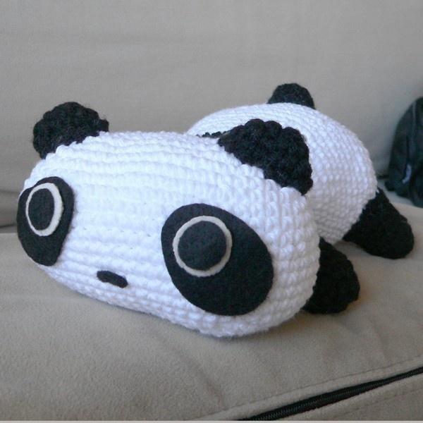 Amigurumi Christmas Santa Panda Bear Animal Doll Crochet Pattern ($4.99) ❤ liked on Polyvore