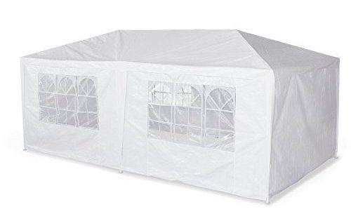 Alice's Garden – Tente de réception 3 x 6 m – Aginum – Blanc – à utiliser comme pavillon, pergola, chapiteau ou tonnelle.: ATTENTION : les…