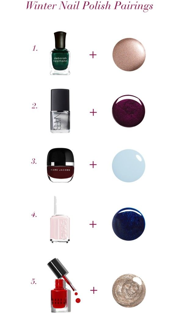 Winter Nail Polish Pairings Beauty Pinterest Nails And
