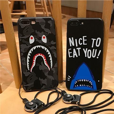 ブランド AAPE 携帯カバー エーエイプ iPhone8/7s/7/6/6s ケース アイフォン7plus/6 plus 迷彩柄 サメ 浮き彫り シリコン製 ソフト