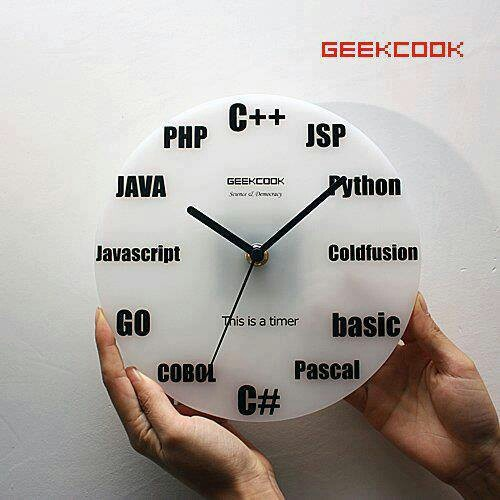 I want this clock so bad as well as I want to learn and be an expert on all of these programming languages.