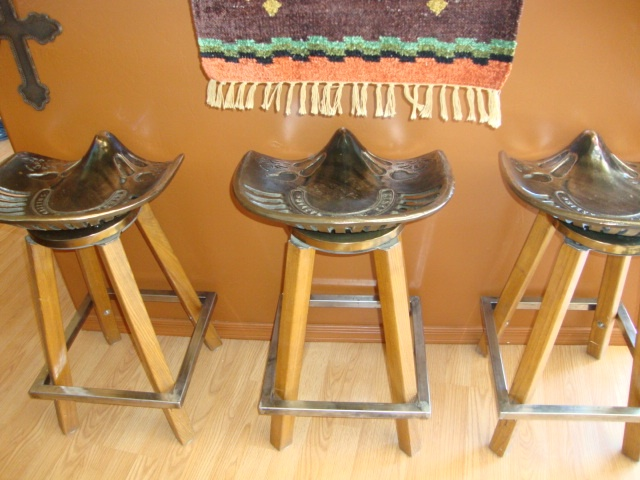 Three Bar Stools With Tractor Seats Love These Stools