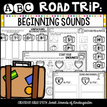 Get ready to take an ABC Road Trip with your students!! These pages provide practice with beginning sounds with a fun road trip theme for your students! These pages can be used for morning work, homework, centers, and more!Included in this pack: -Unpacking Beginning Sounds- cut and paste picture and letter matching- 6 pages-Start your Engines- practice with writing the beginning sound that matches each picture- 4 pages-Suitcase Mix & Match- practice with matching a picture to the letter t...