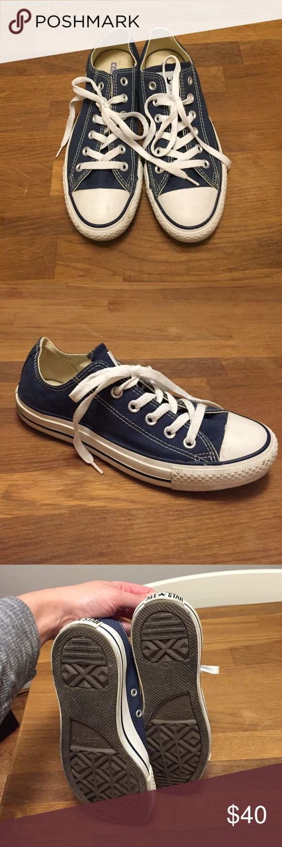 Blue low top converse Blue classic Chuck Taylor converse. In great condition!! Men's size 6, women's 8. No box Converse Shoes Sneakers
