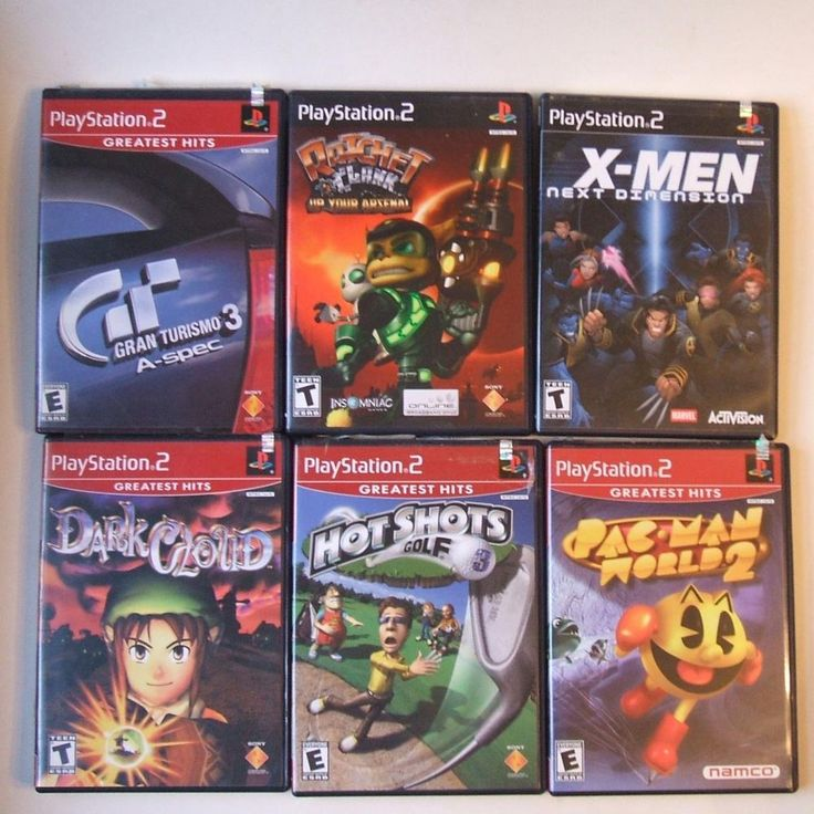 Lot of 6 Sony Playstation 2 PS2 Video Games Tested and Working #Various