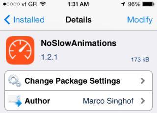 NoSlowAnimations: Επιταχύνετε το zoom animation του iOS 7 (Cydia)