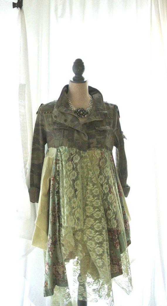 Fall Jacket Gypsy vagabond coat Lagenlook by TrueRebelClothing, $120.00