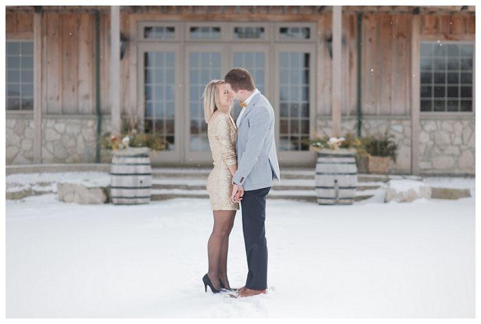 christmas-new-year-engagement #sequin #champaigne #bowtie #golddress #winterengagement #snowengagement #wineryengagement