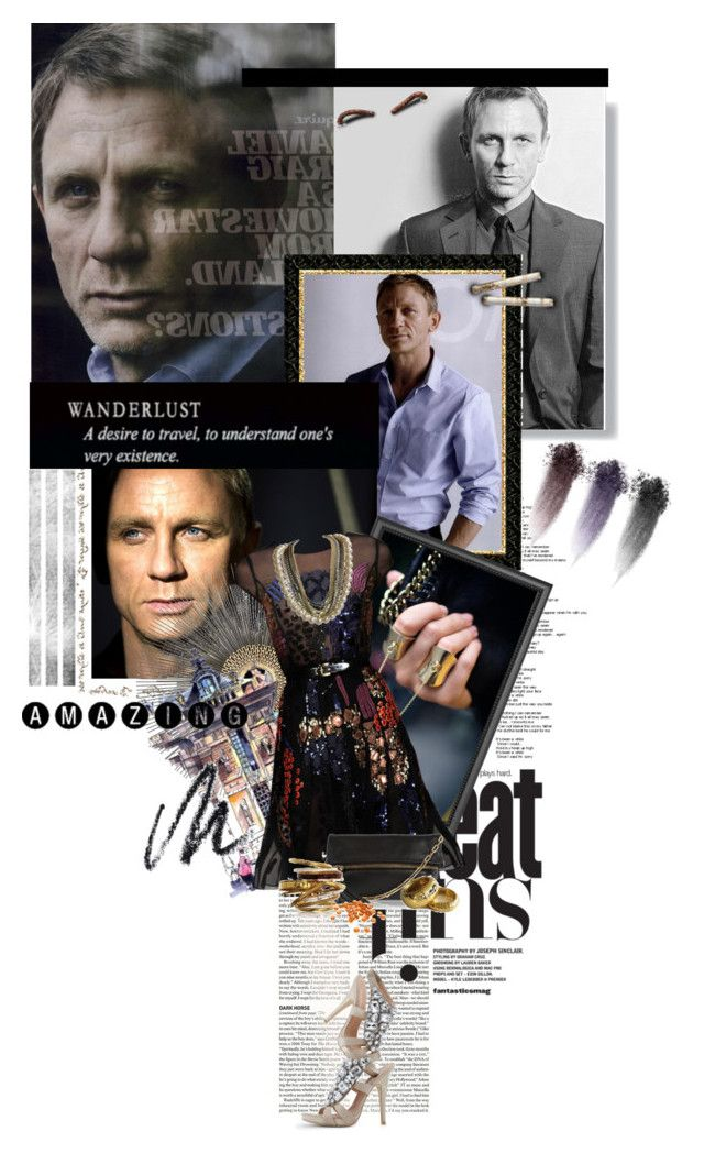 """[50 Cool People Challenge] 36. Daniel Craig"" by ruh-dias ❤ liked on Polyvore featuring OMEGA, Crate and Barrel, Oscar de la Renta, Victoria's Secret, Anya Hindmarch, Ted Rossi, B. Ella, NARS Cosmetics, Benefit and daniel craig"
