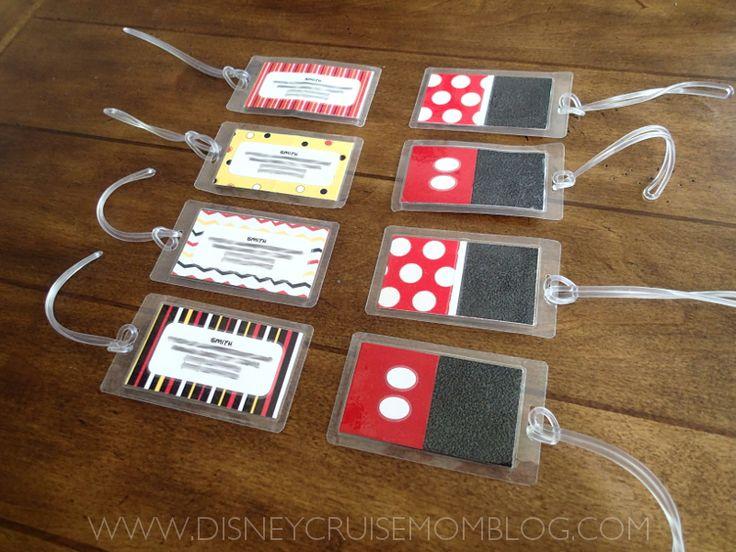 Adorable! Disney luggage tags