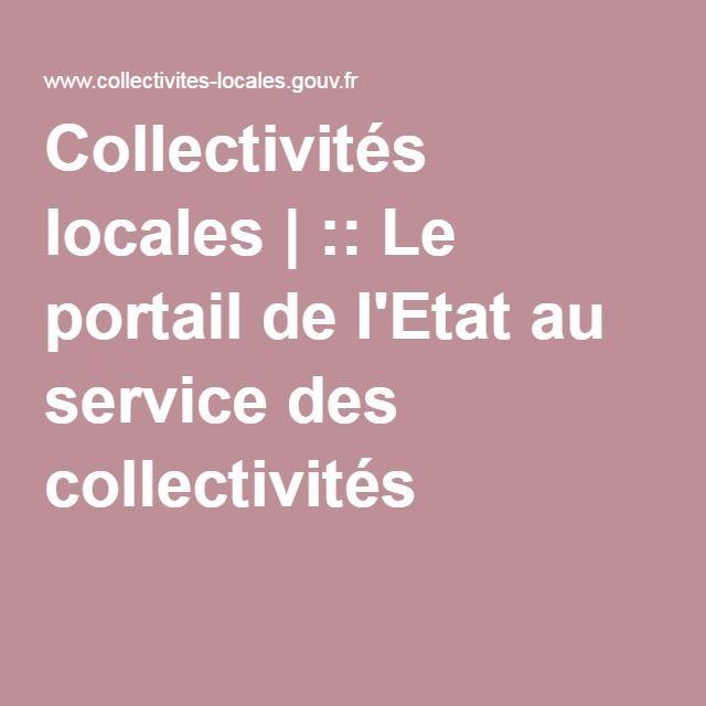 Collectivités locales | :: Le portail de l'Etat au service des collectivités