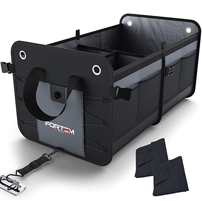 SUV Equipx Premium Quality Auto Trunk Organizer For Car Durable Collapsible Cargo Storage Non Slip Bottom Strips to Prevent Sliding Foldable with waterproof cover Truck