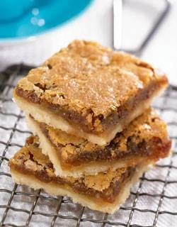 Gramma's Butter Tart Pan Squares  1/2 C margarine 1 C sifted ap flour 2 tbsp sugar 2 eggs,1.5 C brown sugar 3 tbsp flour 1/2 tsp baking powder 1 tsp vanilla 1/2 C chopped walnuts.Cream marg and mix in 1 c flour and 2 tbsp sugar. Press the mixture into an ungreased 9x9 bake pan. Bake at 350F for15 mins.Mix remaining ingrdeients together. Pour and spread this mixture evenly over partially baked layer. Bake 20 to 30 minutes longer or until golden. Cool before cutting.