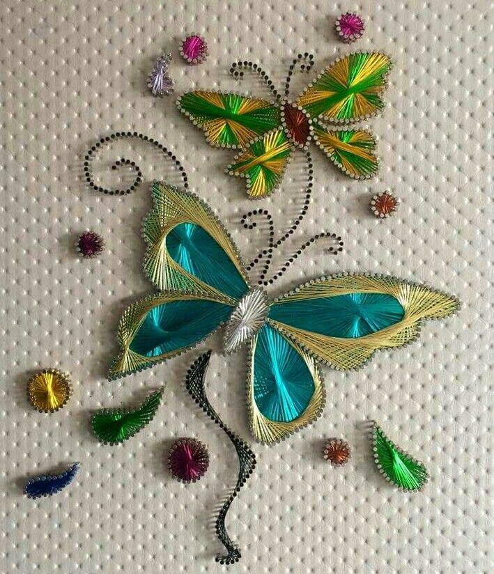 Butterflies string art