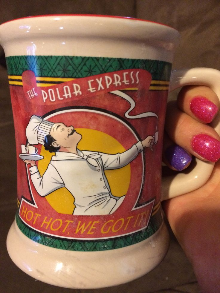 The Polar Express coffee mug, get yours at the North Creek Railway in Saratoga NY on their Polar Express train ride!!