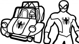 Awesome Spiderman Car Coloring Pages Image Coloring
