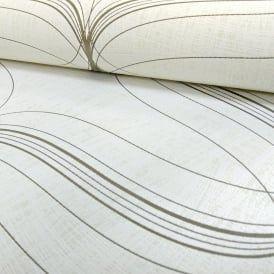 Marburg Lyra Geometric Stripe Pattern Wallpaper Modern Metallic Textured 53150