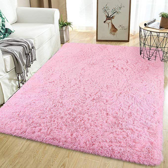 Amazon Com Softlife Fluffy Area Rugs For Bedroom 5 3 X 7 6 Shaggy Floor Rug F Amazon Girls Bedroom Area Rug Bedroom Area Rug Girls Room Area Rug