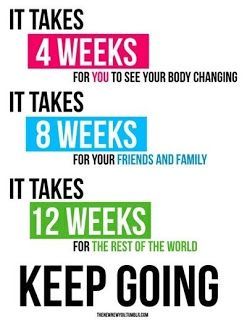 I have a bunch of friends starting their journey to a healthy lifestyle and this is a great reminder to keep going!