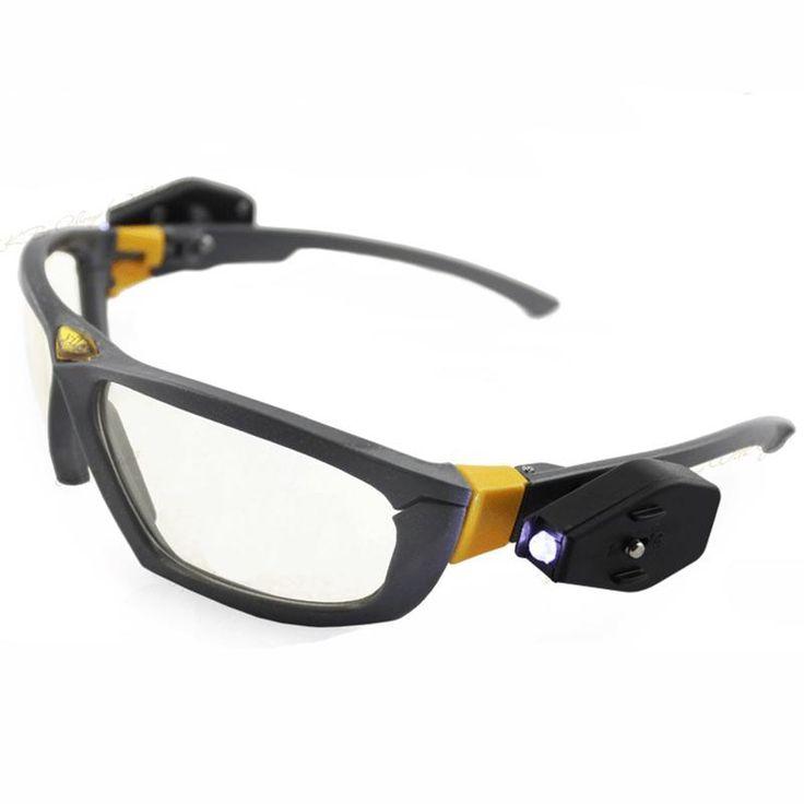 Óculos de visão Noturna de alta qualidade Alto brilho led light reading glasses equitação Noite Reparar o carro de segurança do trabalho industrial