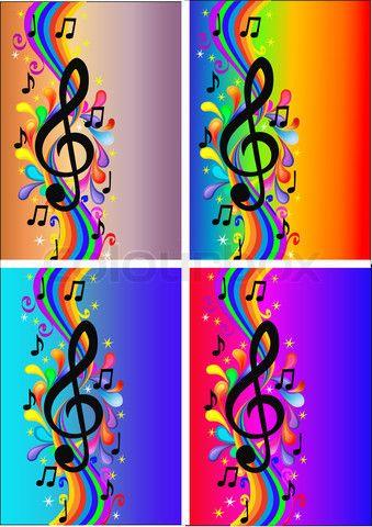 rainbow music note backgrounds http://luckybro.com/