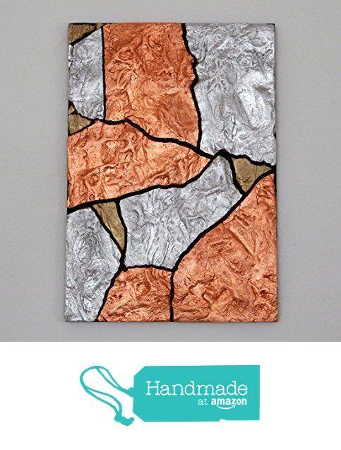 Lovely Wandbild Cracked Copper Unikat handmadeatamazon kunst kunstwerk vergoldet