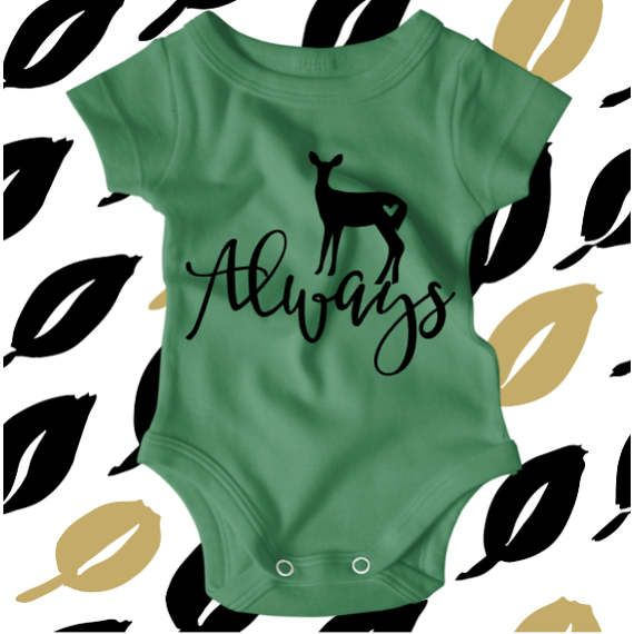 Harry Potter - Always - Harry Potter Onesie - Harry Potter Shirt - Hipster Baby Clothes - Nerdy Baby Onsie - Harry Potter Onesies  This adorable Always onesie is perfect for all of the Harry Potter fans out there! All bodysuits are 100% cotton. Sizing options are available in the pictures. This design is available as a short or long sleeved bodysuit and comes in a variety of color options. We will print using black vinyl as shown in the design above. If you would like to choose from our…