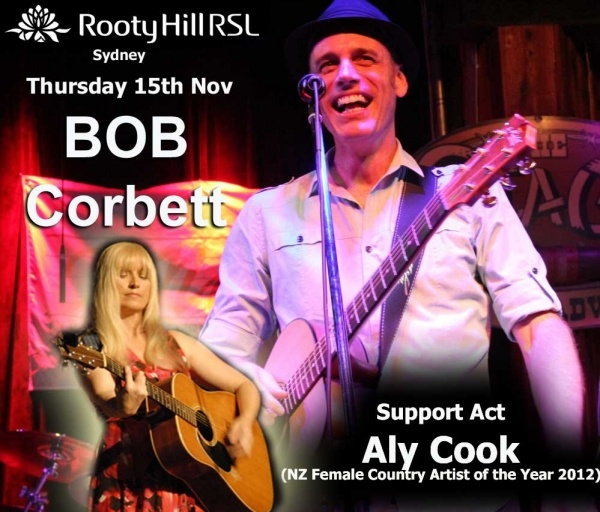 Rooty Hill RSL  Aly COOK performing next Nov 15th